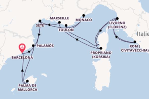 Erleben Sie 15 Tage Monaco und Barcelona