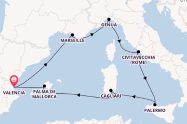 Cruise in 8 dagen naar Valencia met MSC Cruises
