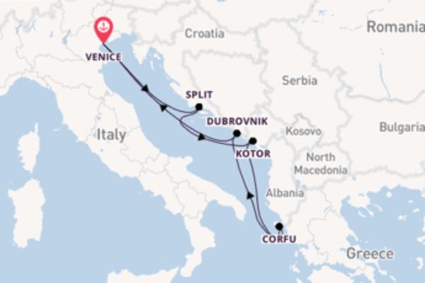 Sailing from Venice via Split