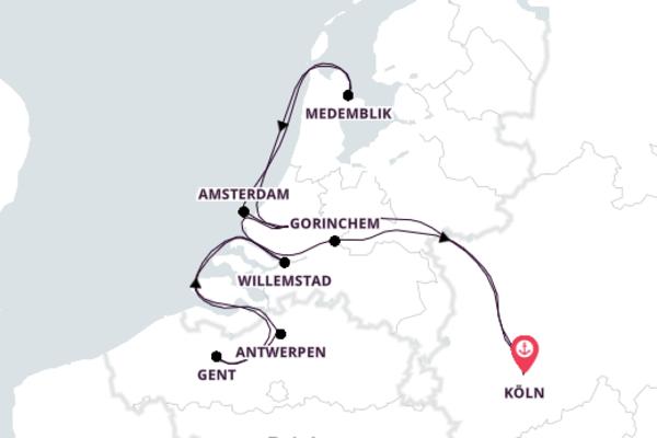 Kreuzfahrt mit der Amelia nach Köln
