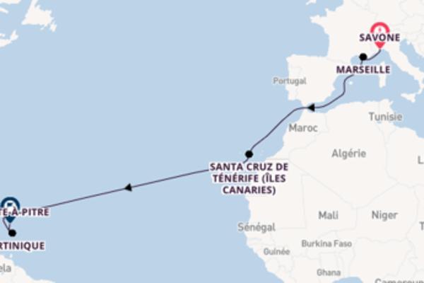 Croisière de 14 jours vers Pointe-à-Pitre avec Costa Croisières