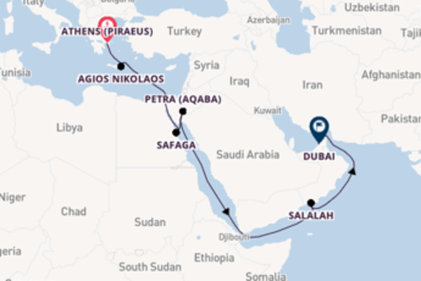 Expedition with the Azamara Journey to Dubai from Athens