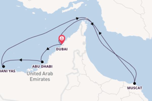 Geniet van een 8-daagse cruise naar Dubai