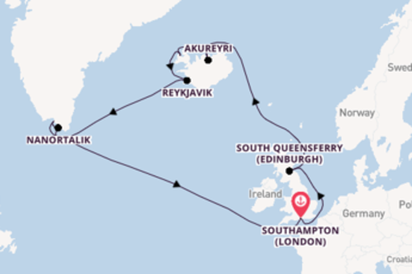 Vibrant cruise from Southampton (London) with Princess Cruises