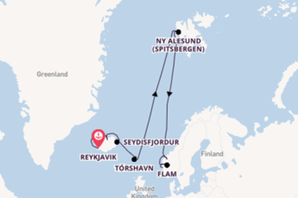 Sailing from Reykjavik via Tórshavn