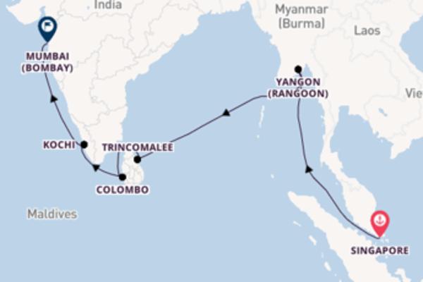 Vaar langs het sensationele Yangon (Rangoon)