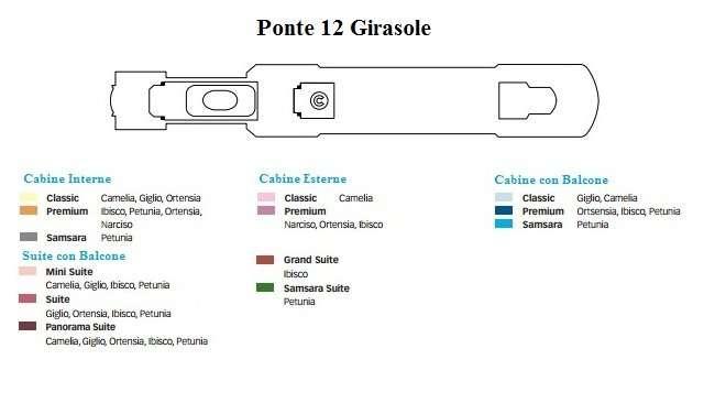 Costa Deliziosa Ponte 12 Girasole