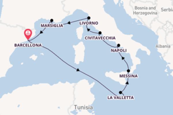 9 giorni di crociera da Barcellona