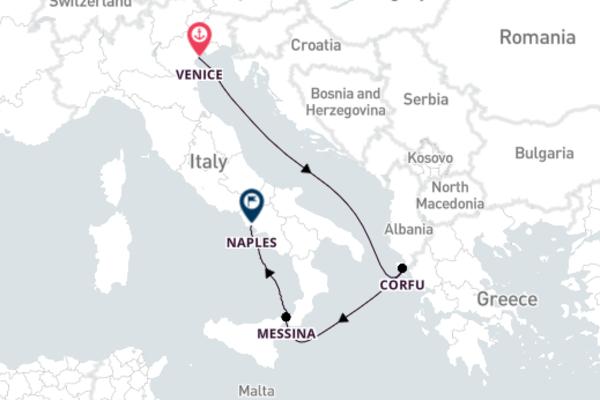 Cruising to Naples from Venice with Costa Luminosa