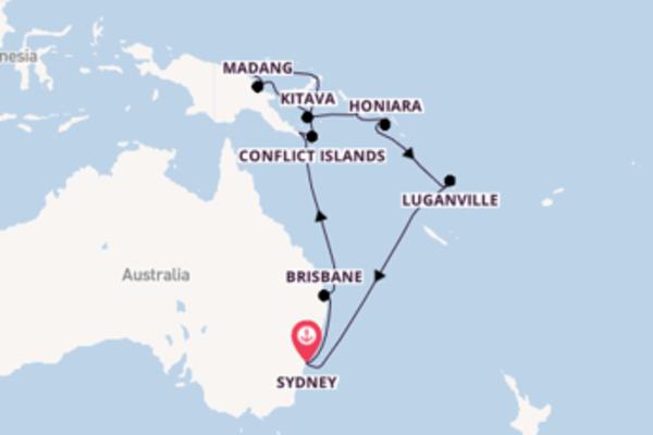 Papua New Guinea & Solomon Islands from Sydney