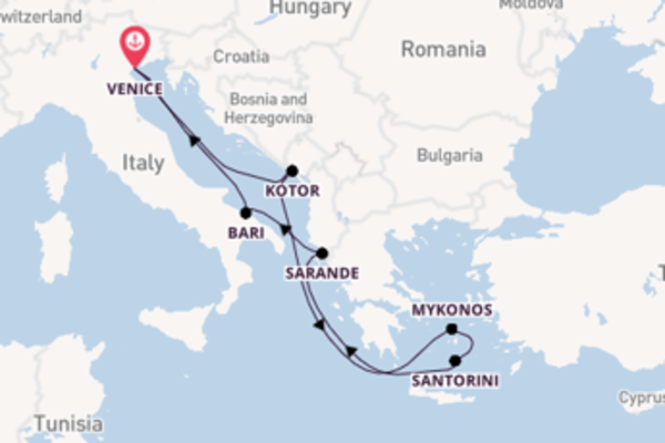 8 day cruise from Venice
