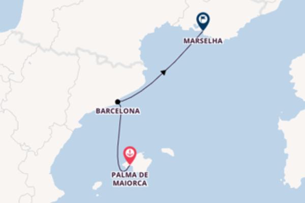 Navegue 3 dias a bordo do MSC Grandiosa