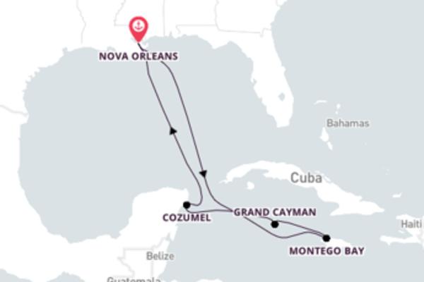 Visite Grand Cayman com o Carnival Glory