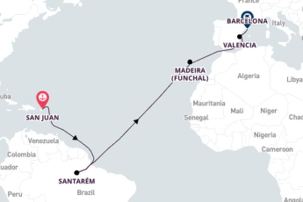 San Juan to Barcelona with Viking Star