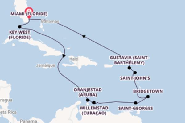 Divine balade de 15 jours à bord du bateau Seven Seas Navigator