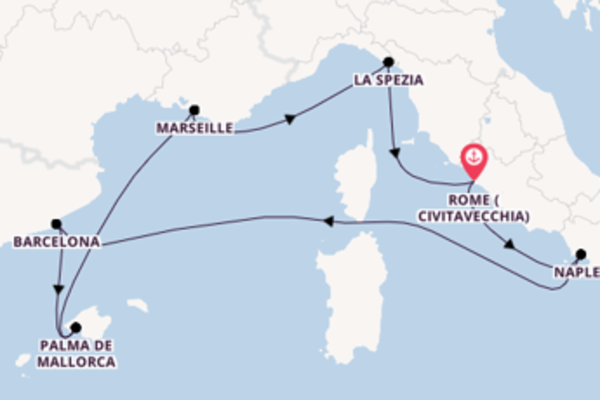 Mesmerising expedition from Rome (Civitavecchia) with Royal Caribbean