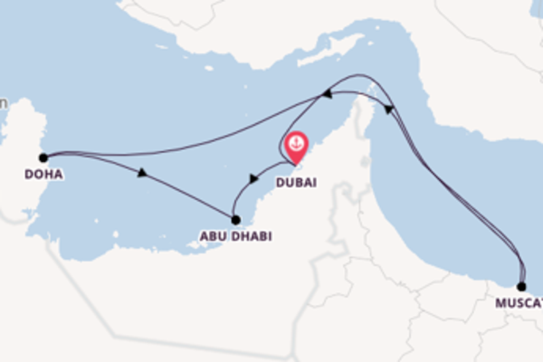 12 giorni verso Dubai passando per Doha