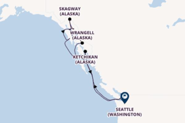 12 jours de navigation à bord du bateau Regatta vers Seattle (Washington)