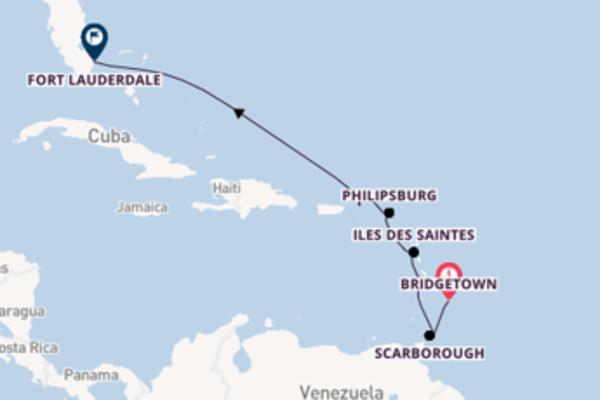 Destinazione Fort Lauderdale da Bridgetown