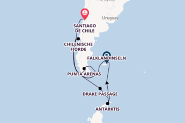 Entdeckungsreise Südamerika und Antarktis
