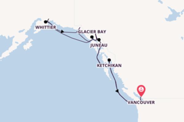 Sensazionale crociera di 15 giorni verso Vancouver