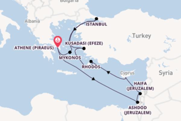 Geniet van een 10-daagse cruise naar Athene (Piraeus)
