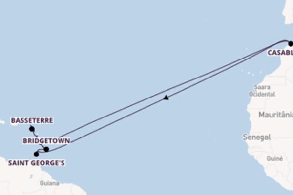 Navegando por 15 dias a bordo do Wind Surf