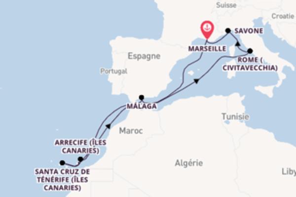 Croisière de 12 jours vers Marseille avec Costa Croisières
