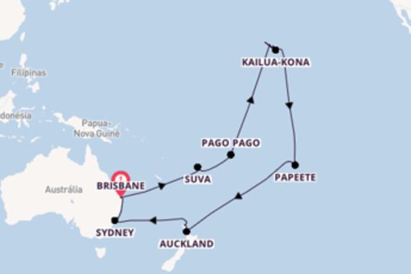 Navegando a bordo do Sea Princess por 36 dias