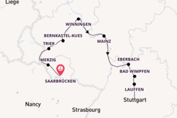 Traumhafte Flusskreuzfahrt durch Süddeutschland