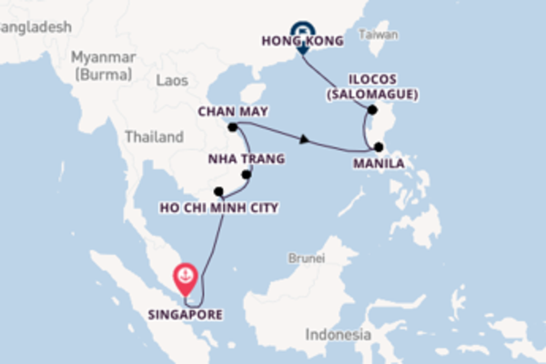 15 day voyage to Hong Kong from Singapore
