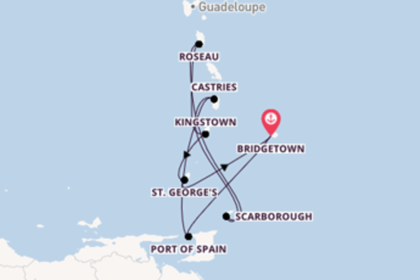 Cruising from Bridgetown via Port of Spain