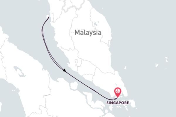 Schitterende korte cruise vanuit Singapore