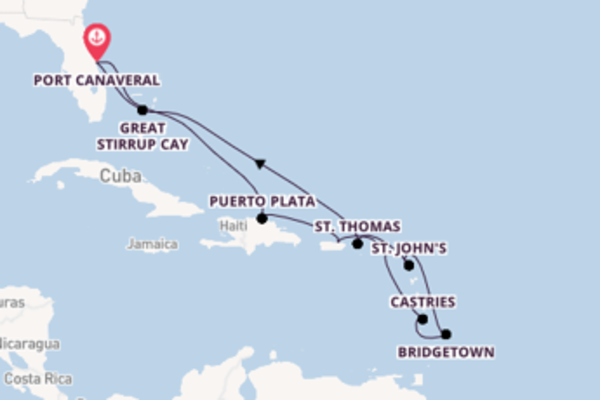 12 day cruise with the Norwegian Escape to Port Canaveral