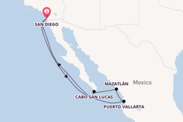 8-daagse cruise vanaf San Diego