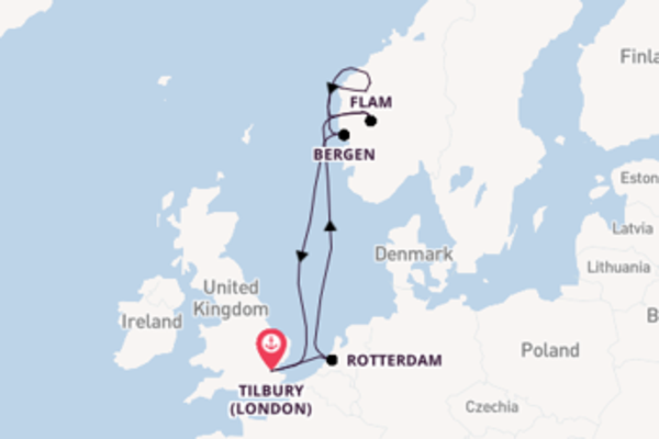 Travelling from Tilbury via Bergen