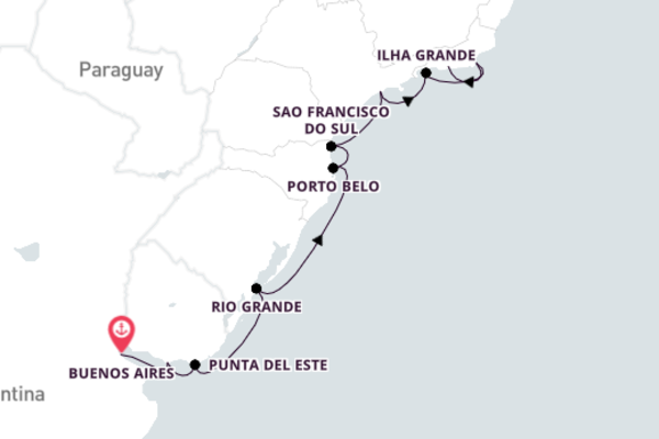 Traveling from Buenos Aires to Rio de Janeiro 13-Day Expedition