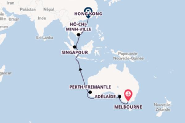 18 jours pour découvrir Hô-Chi-Minh-Ville au départ de Melbourne