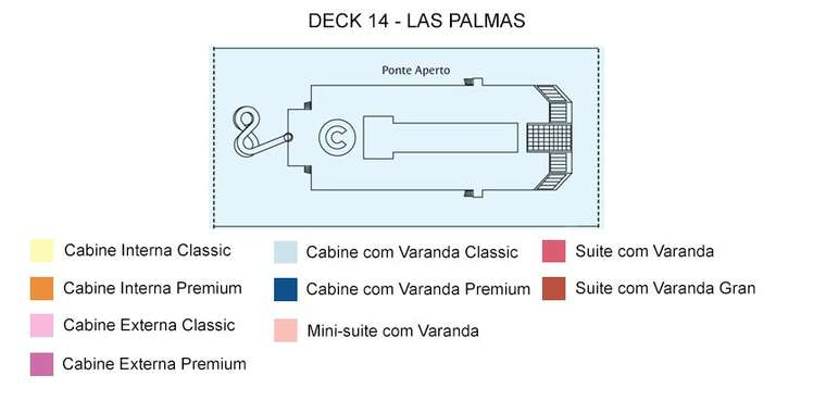 Costa Fortuna Deck 14 Las Palmas
