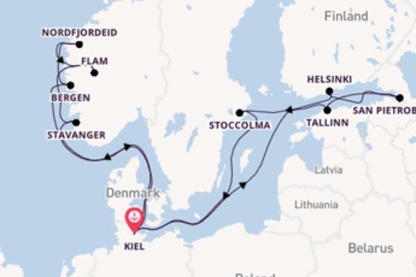 Straordinario viaggio da Kiel verso San Pietroburgo