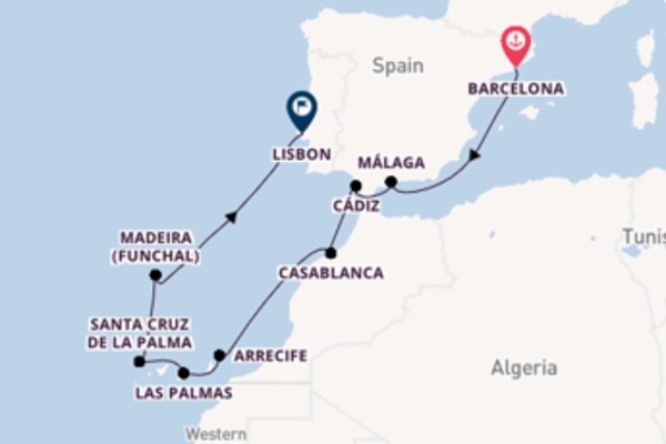 13 day trip on board the Silver Shadow from Barcelona