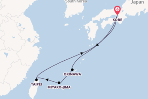 Magnificent journey from Kobe with Princess Cruises