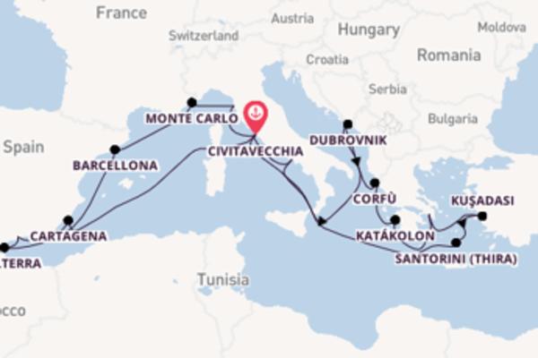 Scopri Santorini (Thira) arrivando a Civitavecchia