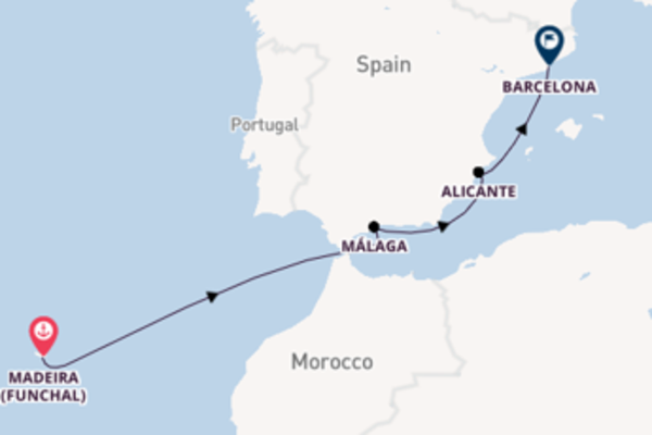 Cruising to Barcelona from Madeira (Funchal)