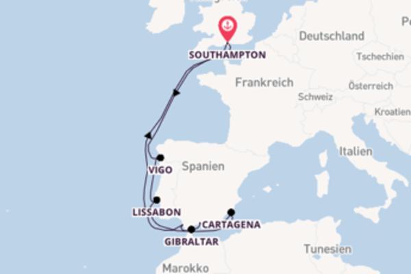 In 13 Tagen nach Southampton über Vigo
