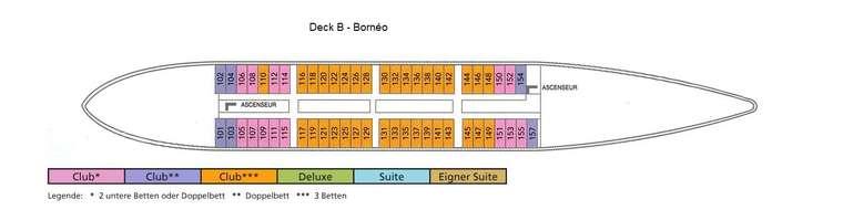 Club Med 2 Deck B - Bornéo