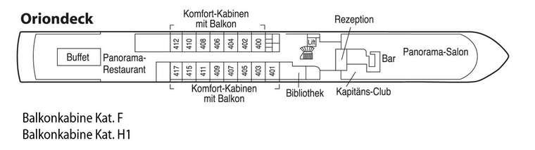 Rhein Prinzessin Deck 3 Orion