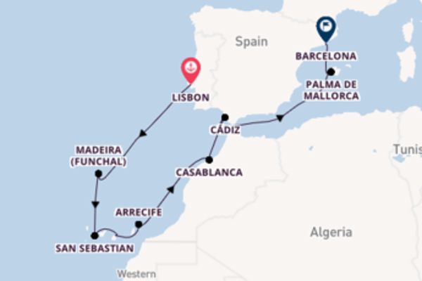 13 day cruise with the Silver Shadow to Barcelona