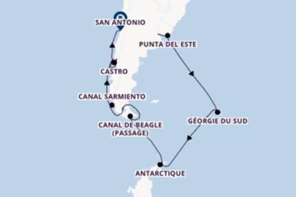 Antarctique et une agréable croisière depuis Buenos Aires