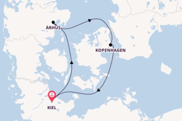 Begeisternde Reise über Århus in 4 Tagen